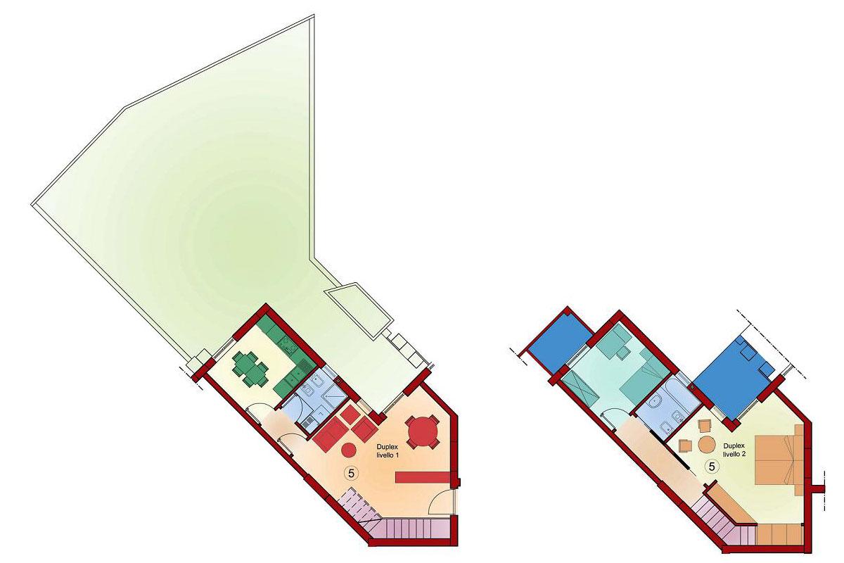 Duplex 105 mq